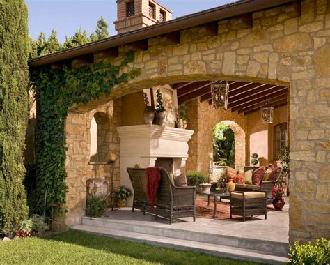 tuscan style mediterranean style patio decorating