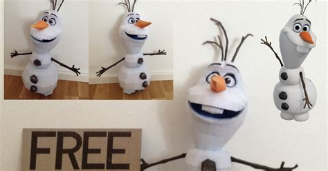 Papercraft Snowman - frozen paper model olaf the snowman paperkraft net