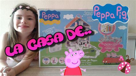 la casa de peppa pig juguetes colorear y armar la casa de peppa pig juguetes de peppa