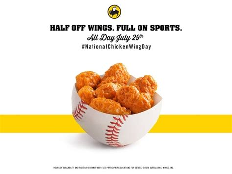 Bdubs Gift Card - buffalo wild wings celebrates national chicken wing day with half priced wings across