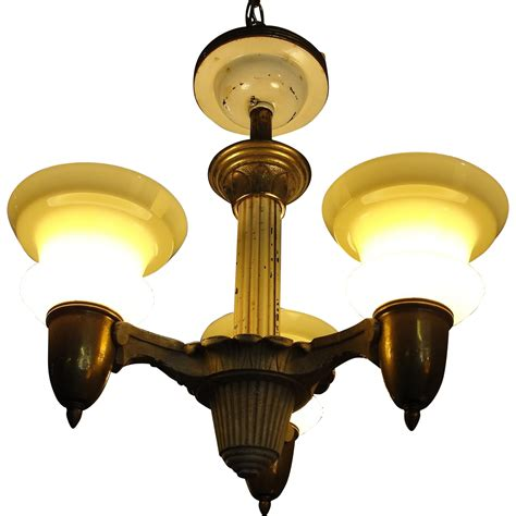 Antique 1920 Ceiling Light Fixtures Vintage 1920 S Deco Ceiling Light Fixture Chandelier From Breadandbutter On Ruby