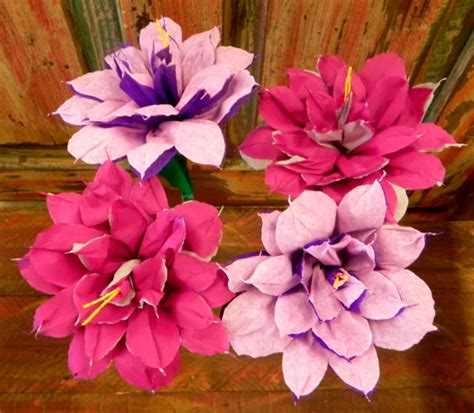 Make Mexican Crepe Paper Flowers - mexican crepe paper flowers set of 4 bi color