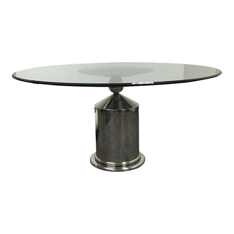 glass chrome dining table glass top dining table with chrome base design plus gallery