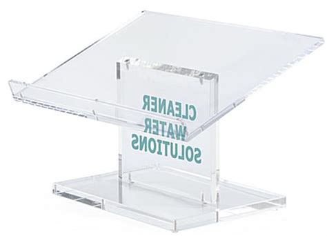 vinyl printing reading clear acrylic desktop lectern 1 color vinyl imprint