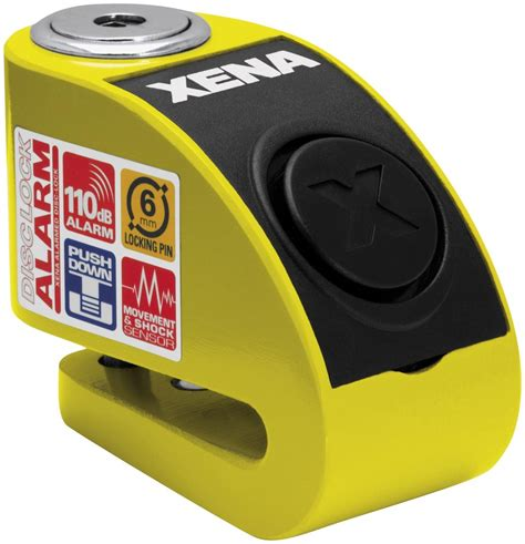 Alarm Xena xena security xxz6 disc lock with alarm with 6mm pin yellow