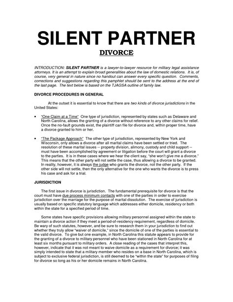 silent partner contract template 49 new silent partnership agreement template gu c6726