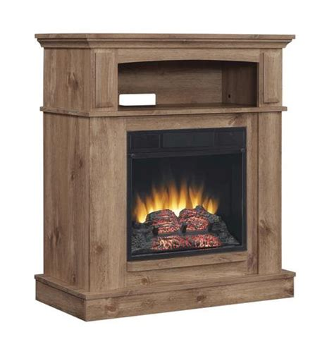 menards fireplaces electric morefield wall mantel in light antique pine at menards 174