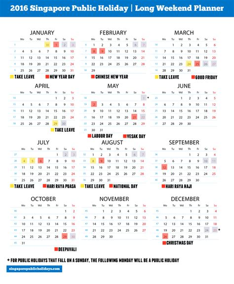 2016 monthly planner printable singapore 2016 calendar and singapore holiday calendar template 2016
