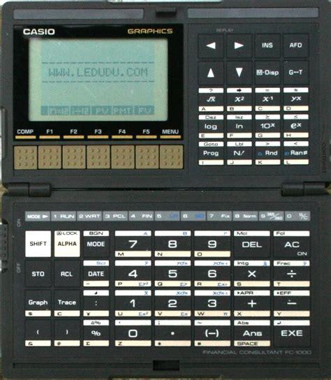 Kalkulator Casio Seri Financial casio fc 1000 ordinateurs de poche calculatrices casio