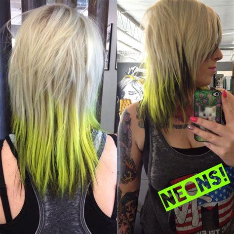 pravana hair cuts neon yellow and green hair pravana hair styles