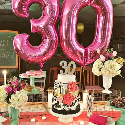 30th birthday party table decoration ideas www pixshark