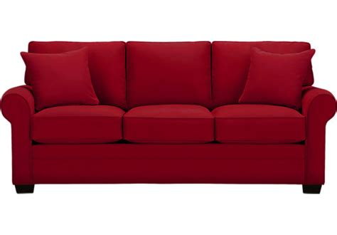 sofa image cindy crawford home bellingham cardinal sofa sofas red