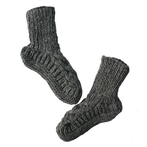 sock slipper fairtrade handknitted wool slipper socks