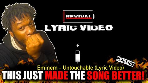 eminem untouchable eminem untouchable official lyric video reaction