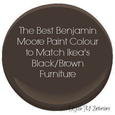 the best benjamin paint colour to match ikea black brown or espresso coloured furniture