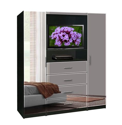 Mirrored Tv Armoire by Aventa Bedroom Tv Armoire Contempo Space