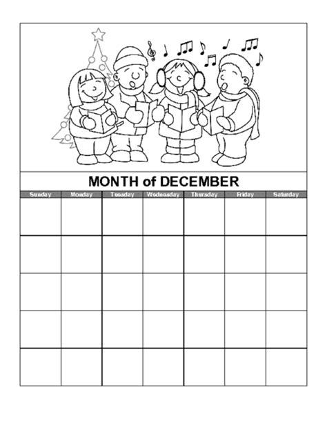December Calendar Templates by Education World December Calendar Template
