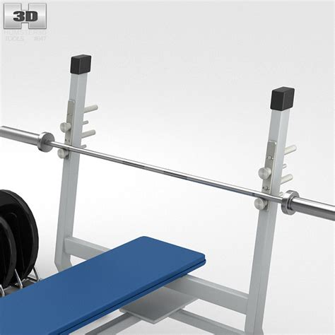 modells weight bench weight bench with weights 3d model humster3d