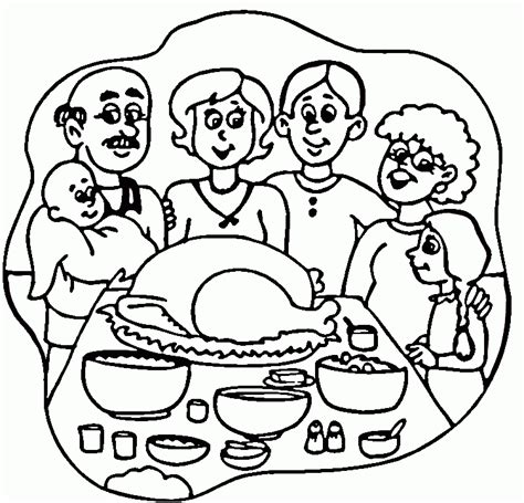 coloring page thanksgiving dinner turkey dinner for thanksgiving coloring online super