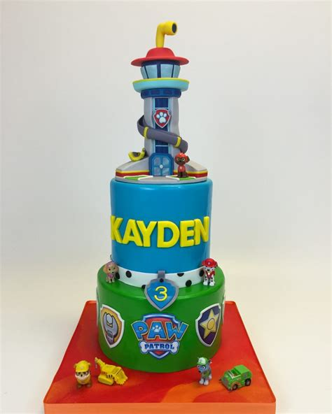 Cake Topper Paw Patrol New paw patrol tower cake cake in cup ny