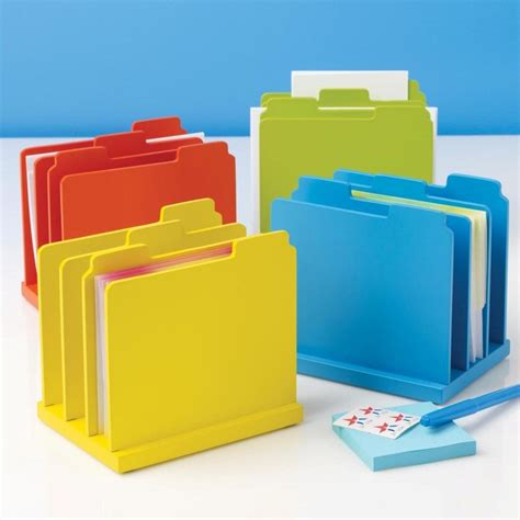 Desk Top File Organizer Colorful Desktop File Organizer 17 99 Cleaning And Organizing Pinterest