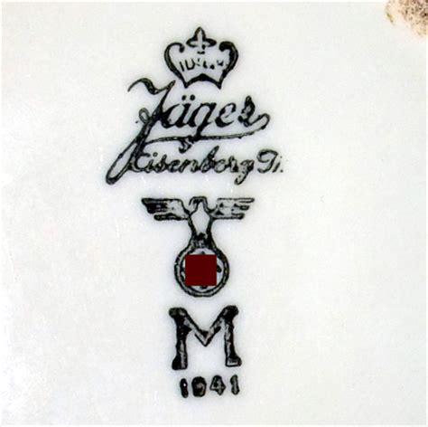 Porzellanmarken Krone W by Porzellanfabrik Wilhelm J 228 Ger In Eisenberg Th 252 Ringen