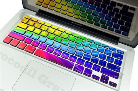 rainbow mac keyboard light rainbow keyboard stickers for macbooks the coolest stuff