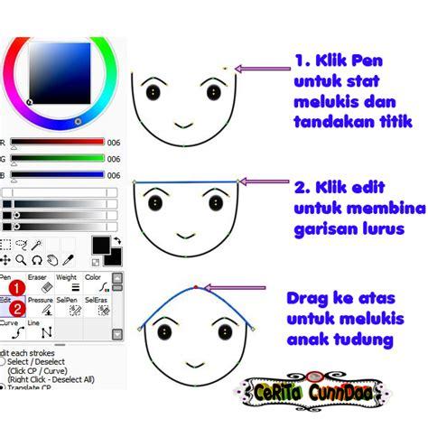 doodle intan cunndaa tutorial melukis doodle bertudung