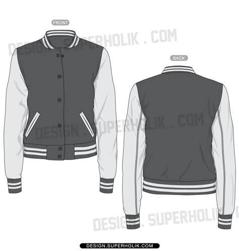 baseball jacket template hooded varsity jacket hellovector