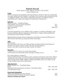 Resume Career Objective Paralegal Paralegal Resume Objective Berathen