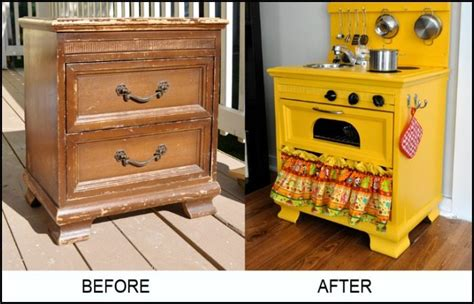 upcycle us kids kitchen set turn an old nightstand into a play kitchen diy projects