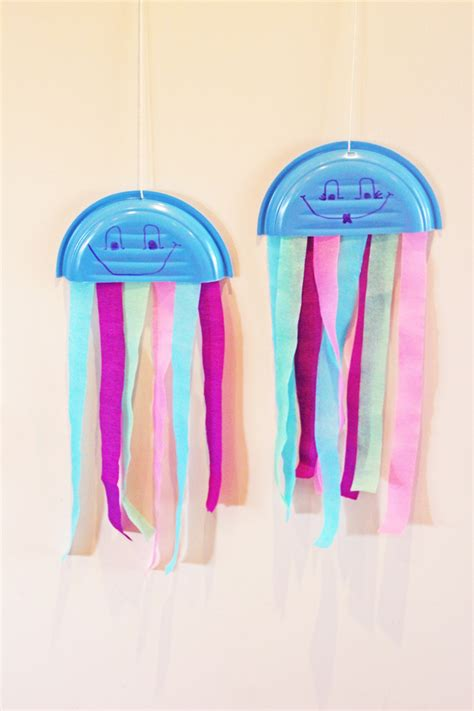 Paper Jellyfish Craft - jellyfish paper plate crafts crafts for