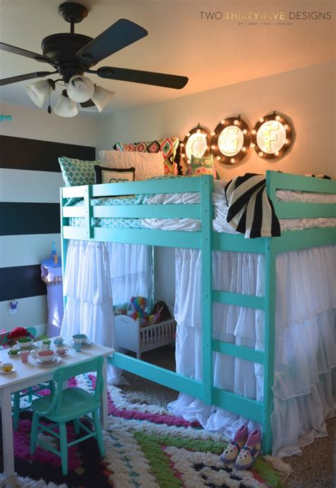 Mint Colored Bedroom Ideas Ikea Bunk Bed Hack Two Thirty Five Designs