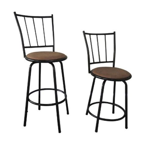 bar height bar stools swivel buy black finish scroll back adjustable metal swivel