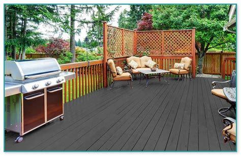 dark gray deck stain