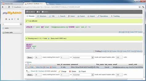 php tutorial user login php tutorials register login part 15 user settings