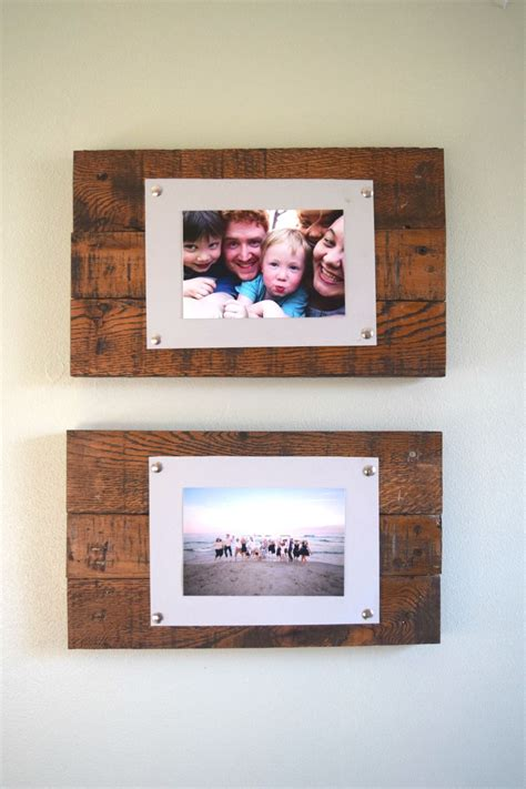 diy projects with picture frames diy rustic scrap wood picture frames spotlight favorite photos