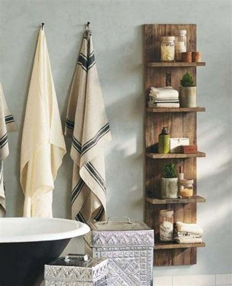 Recycled Pallet Shelving Ideas Pallet Wood Projects Wooden Bathroom Shelving