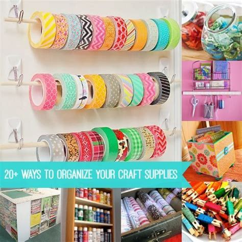 20 organizing life hacks diy craft projects decor hacks 20 ways to organize your craft supplies and