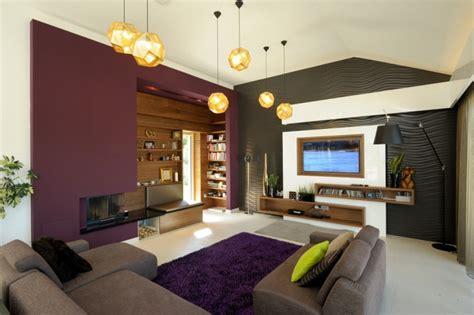 wandfarbe aubergine aubergine farbe kombinieren und im wohnraum einsetzen