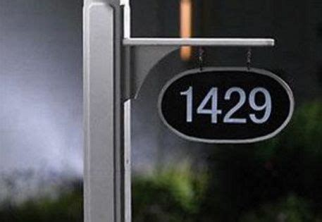 Address Plaques For Light Posts - l post hanging address plaques 1