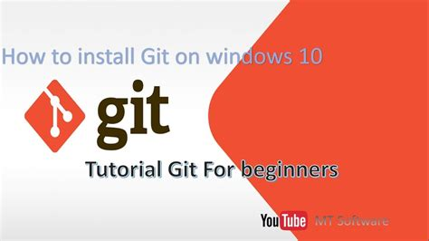 git tutorial site du zero how to install git on windows 10 youtube
