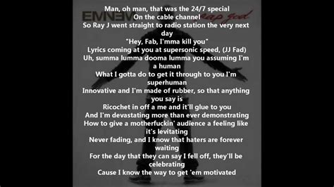 rap lyrics eminem rap god fast part lyrics