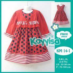 Fashion Anak Perempuan Dress Gisella Kid Merah Maroon Salem Pink gambar baju muslim batik keluarga terbaru desain