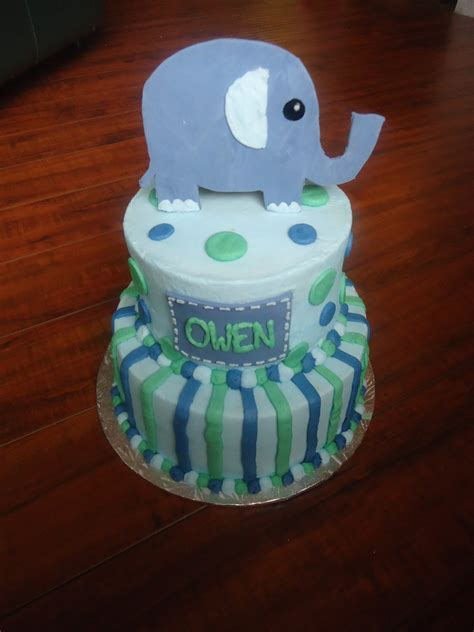 charity s elephant baby shower cake
