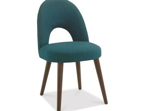 oslo teal upholstered dining chair sold individually