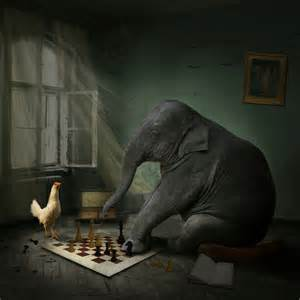 Chess Board Design Chess Game With Elephant Trigger Image