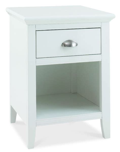 White One Drawer Nightstand Bentley Designs Hstead Hstead White 1 Drawer