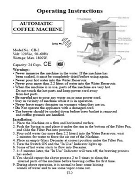 Always Read The Instructions That Come With Your Coffee Maker