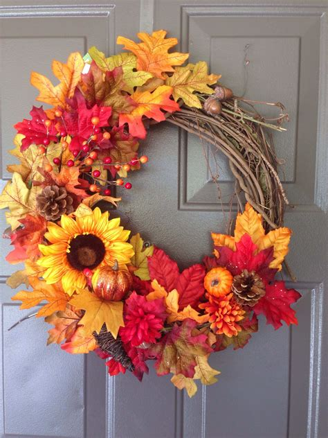 Sun Flower Syari Grey Abu beautiful thanksgiving wreaths for your front door